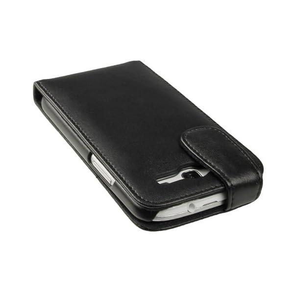 igadgitz Negro Funda de Piel Carcasa Case Cover para Samsung Galaxy S3 III i9300 Android Smartphone + Protector de… 8