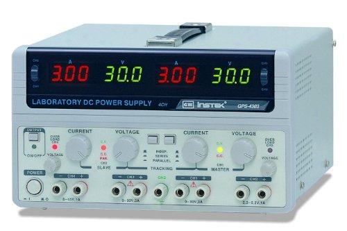 Instek GPS-4303 200W Quadruple-Output Linear DC Power Supply, 30V DC, 3 Amp