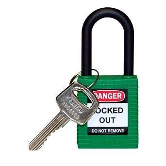 Brady 123326, verde nailon grillete candado de seguridad, (Pack de 10 unidades): Amazon.es: Amazon.es