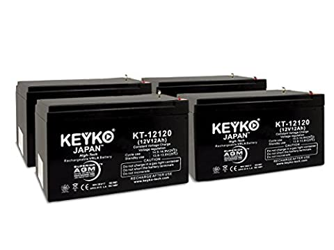 E-Scooter 24V System 12v 12Ah SLA Sealed Lead Acid AGM Rechargeable Replacement Battery Genuine KEYKO (W/F2 Terminal)- 4 - 24v Lead Acid Battery