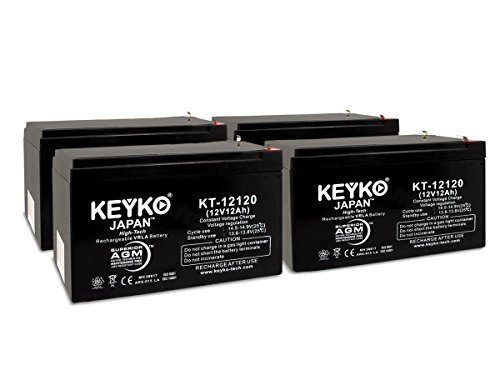 Mega Motion Travel Pal 3-Wheel Scooter MM111B 12v 12Ah SLA Sealed Lead Acid AGM Rechargeable Replacement Battery Genuine KEYKO (W/F2 Terminal)- 4 Pack by KEYKO (Image #4)