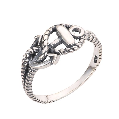 CloseoutWarehouse Sterling Silver Anchor of Hope Ring Size 3 by CloseoutWarehouse