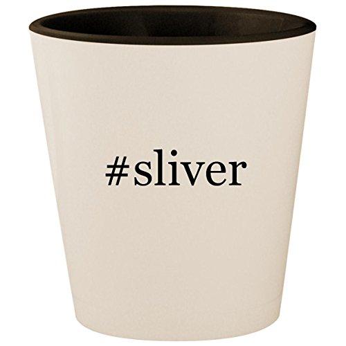 #sliver - Hashtag White Outer & Black Inner Ceramic 1.5oz Shot Glass