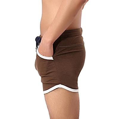 Hot Sale! ❤️ Men Shorts Pants, Neartime Fashion Cotton Gym Sport Jogging Trousers Casual Fitness Beach Pants Swimming Trunks Spa Shorts (❤️AsianM, Brown)