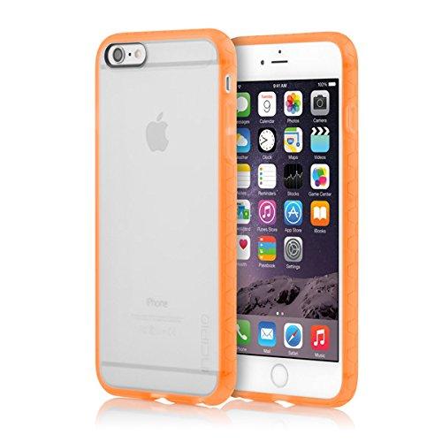 iPhone 6S Plus Case, Incipio Octane Case [Shock Absorbing] Cover fits Apple iPhone 6 Plus, iPhone 6S Plus - Frost/Neon - Iphone Neon 6 Case Orange Plus