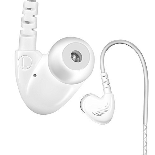 KINDEN in-Ear Noise Isolating Running Sport Earbuds Headphone with Mic Memory Cord for iPhone Samsung Tablets White