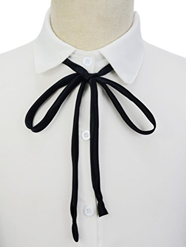 SYAYA Girls' Adjustable Bow Tie Solid Color Bowties for Women WLJ11