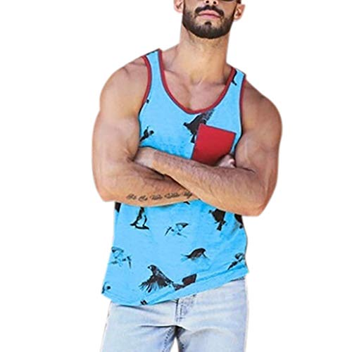 (POQOQ Mens Workout Hooded Tank Tops Sleeveless Gym Cool and Muscle Cut S)