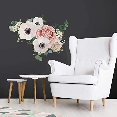 Floral Wall Decals - RoomMates Fresh Floral Peel And Stick Giant Wall Decals