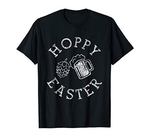 Hoppy Easter Funny Alcohol Drinking T-shirt