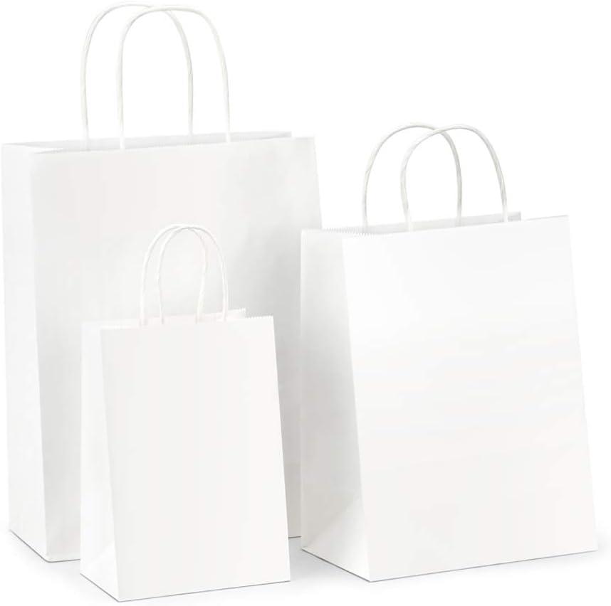 Amazon.com: BagDream - Bolsas de papel Kraft 5 x 3 x 8 y 8 x ...