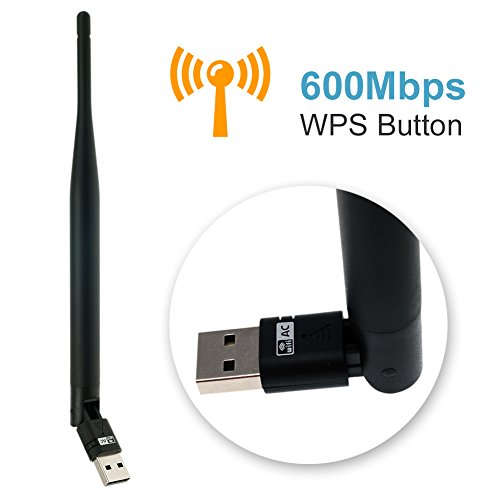 CUBETECH Wifi Adapter AC 600Mbps Usb Wireless Adapter 2.4GHz/5.8GHz Dual Band Network Lan Card with External Antenna for Windows 10/8.1/8/7/XP/Vista/Mac OS10.6-10.12 from Cube Tech