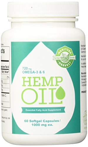 Manitoba Harvest Hemp Oil, 60 Softgel Capsules (Pack of 3) (Harvest Seed Hemp Oil Manitoba)