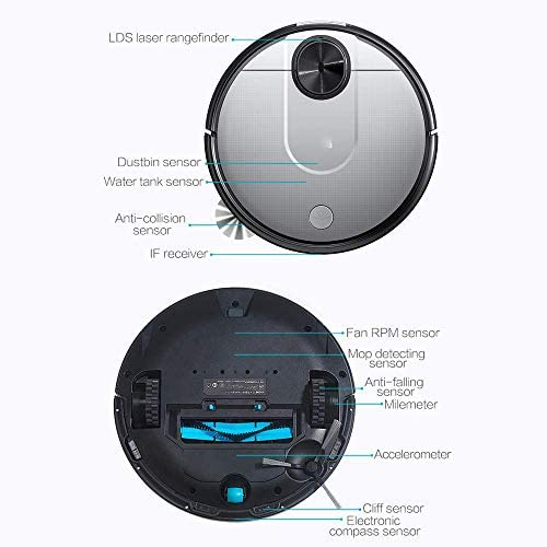 W 2100Pa Aspirateur Forte Auto-Chargeur Robot Aspirateur Capteur LDS Capteur De Balayage 2 en 1