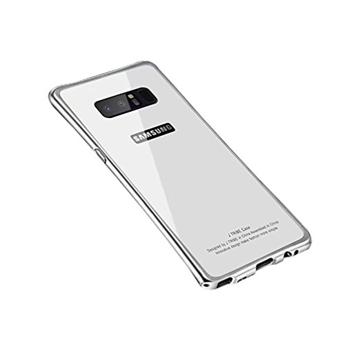 Price comparison product image ANERNAI Galaxy Note8 Metal Frame + Tempered Glass Back Ultra Thin Shockproof Cover for Samsung Galaxy Note 8 (White)