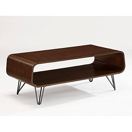 Astro Coffee Table.Amazon Com Walnut Finish Retro Modern Astro Coffee Table Kitchen