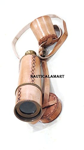 18'' Vintage Replica Marine Spyglass Royal Antique Telescope With Leather Cap Belt By Nauticalmart by NAUTICALMART