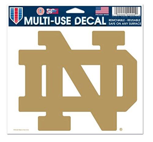 NCAA Notre Dame Fighting Irish Gold 5 x 6 inch Ultra Decal Sticker