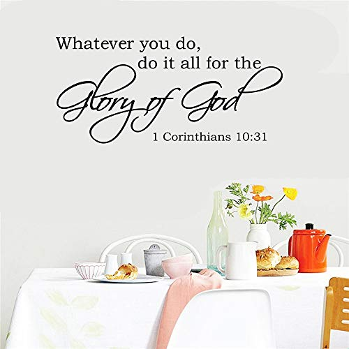 ovadeo Wall Decor Stickers for Living Room Whatever You Do Do It All for The Glory of God for Living Room Nursery Kids Room (Glory Be To The Father In Spanish)