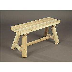 Rustic Cedar 3' Straight Bench - 2016 Design - (1 / Box)