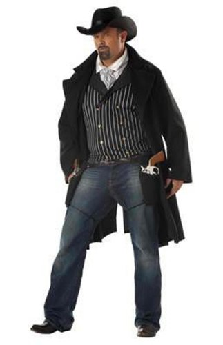 California Costumes Men's Gunfighter,Black/White,P (48-52) Costume (Gunfighter Halloween Costume)