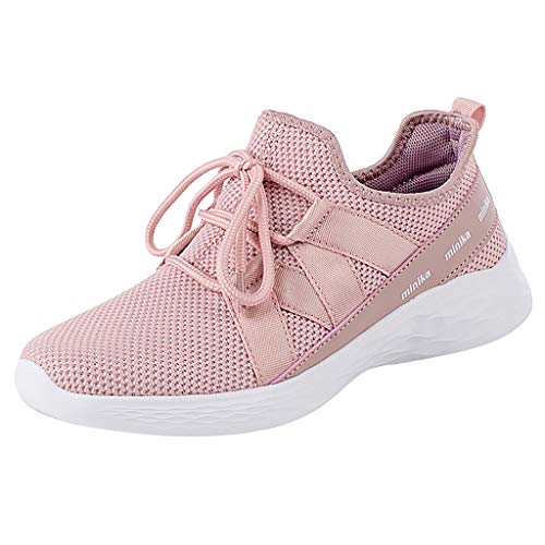 - JUSTWIN Outdoor Fitness Running Shoes Leisure Breathable Mesh Outdoor Fitness Sport Sneakers Shoes Pink