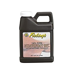 Fiebing's 100% Pure Neatsfoot Oil - Natural Leather Preserver - For Boots, Baseball Gloves, Saddles and More - 16 oz 34