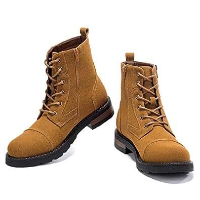 Amazon.com: GM GOLAIMAN Men's Snow Boots Winter Combat-Fur