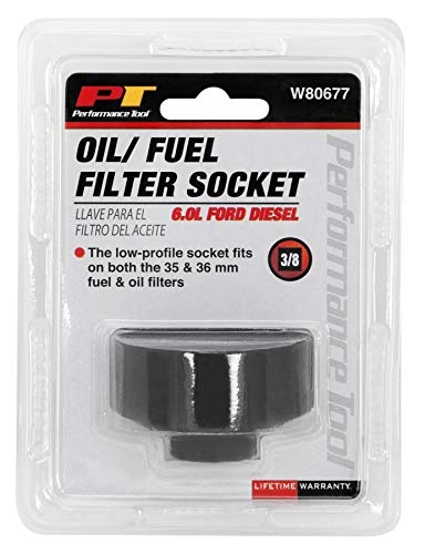Performance Tool W80677 6.0 Liter Ford Diesel Oil & Fuel Filter Socket (36mm fuel and oil filters)