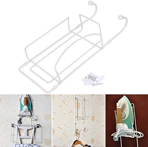 1 Pc Iron Holder Door or Wall Mounted Iron and Ironing Board Holder Polished Chrome Finish Hanger