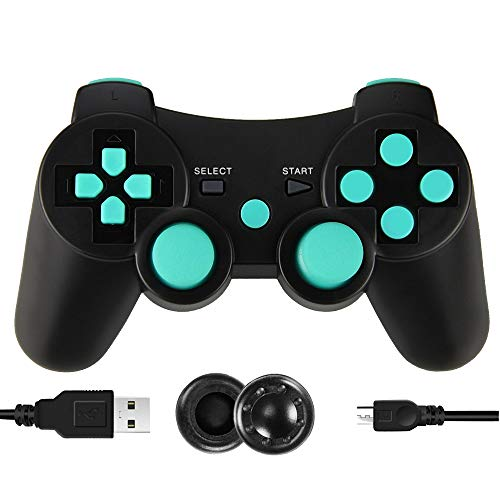 PS3 Controller Wireless, PS3 Joystick, PS3 Remote, Wireless PS3 Controller Double Shock Gamepad Compatible for…