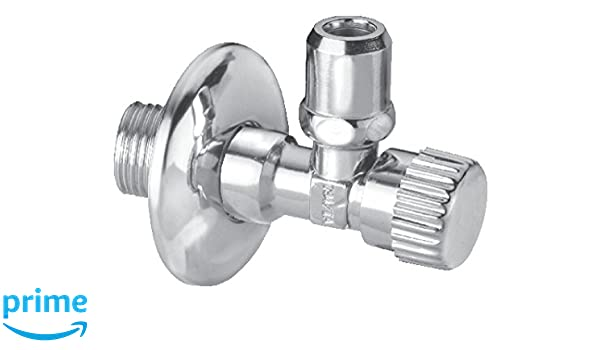 Cornat Válvula angular (latón, nivel de clase con longitud Equilibrio unión para conector tubos Incluye embellecedor, a 1/2zoll, swe843e B 3/Ig, C 10 mm, ...