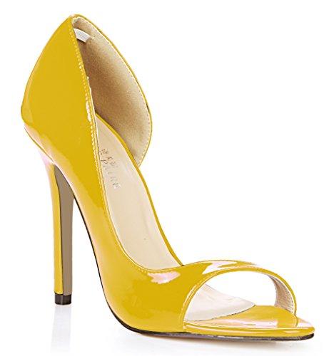 Lateral Las Mujeres Roja Punta De Nuevo Perla Zapatos Pescado Pearl Grandes Shoes Anual Yellow Mujer Del Período Blanco Discotecas heel Solteras Sesiones Alto ZCqZrwgd
