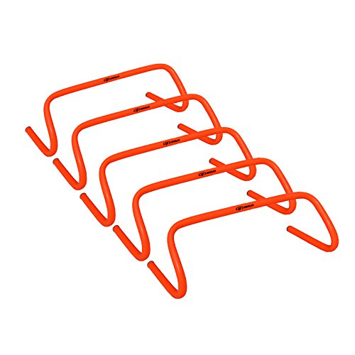 Cougar Speed Hurdles – 6 inches high Hurdles Orange and Red (Set of 5)