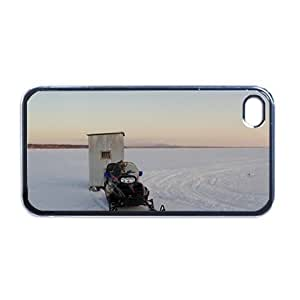 Ice Fishing Shack Apple iPhone 4 or 4S RUBBER cell phone Case / Cover Great Gift Idea