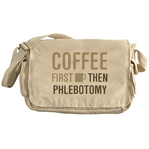 Price comparison product image CafePress - Coffee Then Phlebotomy - Unique Messenger Bag, Canvas Courier Bag