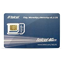 Telcel Mexico Prepaid SIM Card with 1.5GB Data and Unlimited Calls and SMS Universal SIM