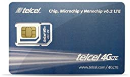 Telcel Mexico Prepaid SIM Card with Unlimited Calls and SMS in North America (LTE 3 in 1 Fits All Devices)