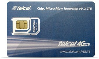 Telcel Mexico Prepaid SIM Card with 2GB Data and Unlimited Calls and SMS Universal SIM by Telcel