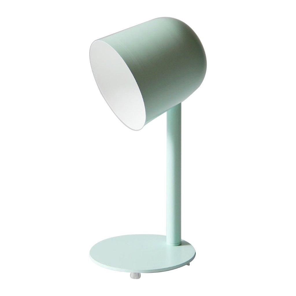 Eisen Industrie Moderne Tischlampe LED Augenschutz Schreibtischlampe Grün Schlafzimmer Studie Nachtlicht (E27 - Keine Glühbirne Druckschalter)