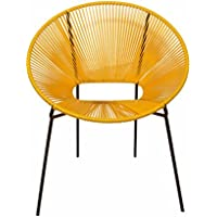 Madhus COLLECTION Relax with Our take on The Classic Acapulco Lounge Chair (Yellow/Black). A Limited Edition MG Decor