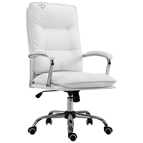 Cheap  HOMCOM PU Leather High Back Executive Home Office Chair with Lumbar Support..