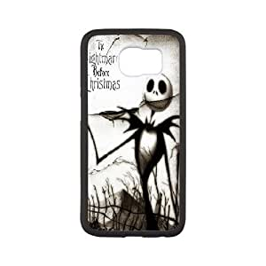 [The Nightmare Before Christmas] the Nightmare Before Christmas Movie Poster Case for Samsung Galaxy S6, Samsung Galaxy S6 Case Girly Protective for Teen Girls {White}
