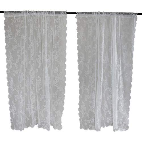 sheer lace curtain panels - 2