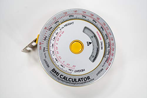 AnthroFlex Body Tape Measure with BMI Calculator, Metric and Imperial Feet Inches