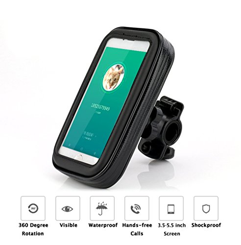 FLy wasserdichte Bike Motorrad montieren Halter Universaltasche mit sensiblen Touchscreen für iPhone X iPhone 8/7/SE/6S/6 SAMSUM Handy Huawei 3 C bis zu 5,2 Zoll