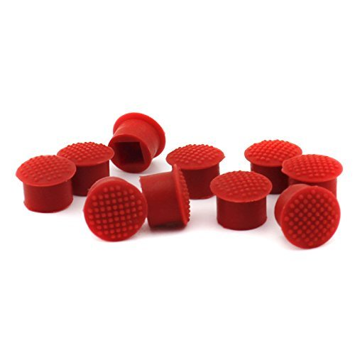 (6 PCS TrackPoint Keyboard Mouse Red Cap Soft Dome Laptop Pointer for IBM Lenovo)