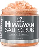 ArtNaturals Himalayan Salt Body and Face Scrub - (20 Oz / 567g) - Deep Cellulite Cleansing Exfoliator with Sugar, Shea Butter, Exfoliating Dead Sea - Natural Pink for Hand, Skin and Facial - Men and Women