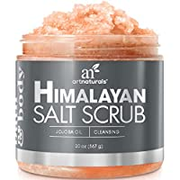 ArtNaturals Himalayan Salt Body and Face Scrub-(20 Oz / 567g)-Deep Cellulite Cleansing Exfoliator with Sugar, Shea Butter, Exfoliating Dead Sea-Natural Pink for Hand, Skin and Facial-Men and Women