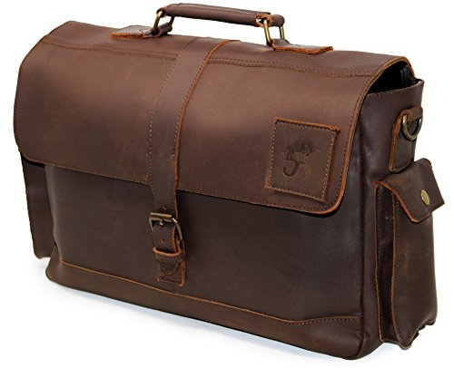 Cuero Genuine Leather Messenger Bag For Men Mens Shoulder bag 15.6 laptop briefcase for office bag gift for men women cross bag (Best Retro Bikes In India)